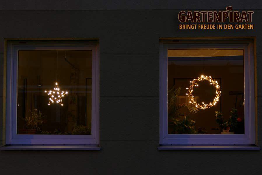 Fenster Weihnachtsbeleuchtung.Shopping Weihnachtsbeleuchtung Fenster Stern Und Kranz Mit Led