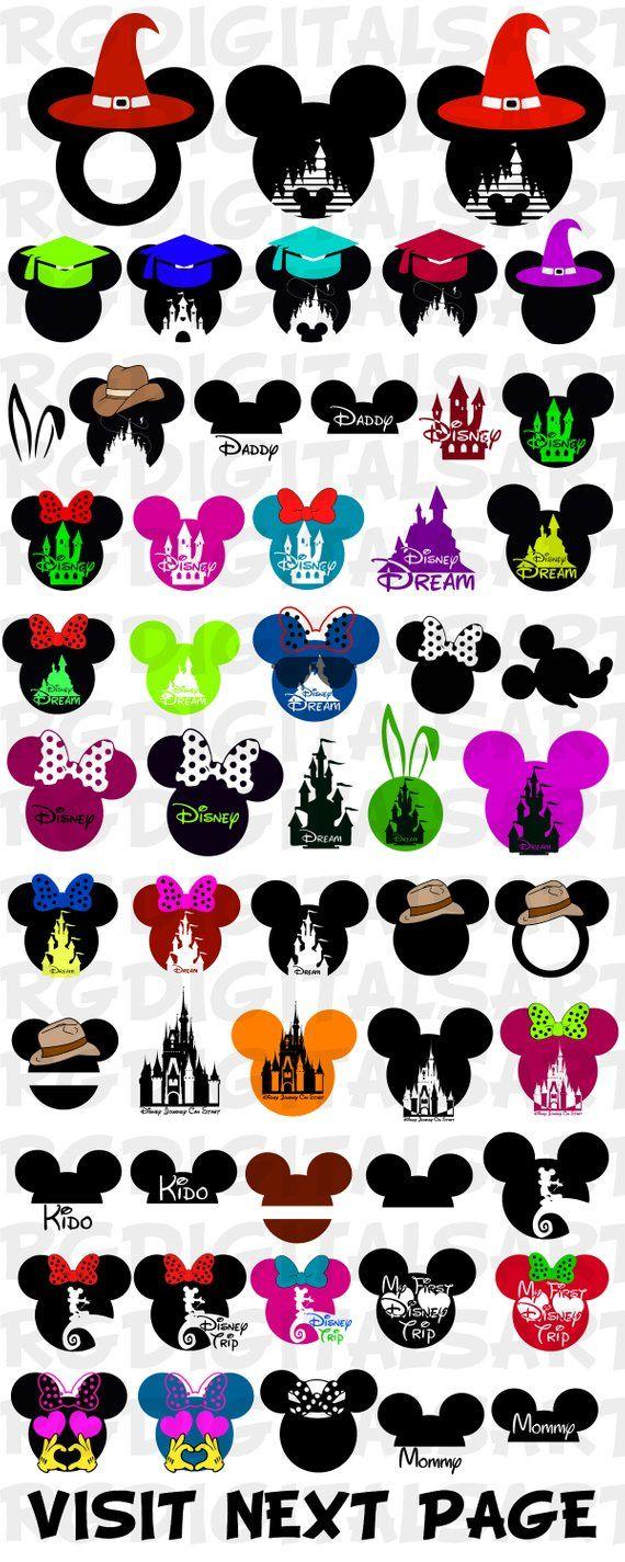 DISNEY Svg BUNDLE Files Svg Disney Minnie Svg Mickey