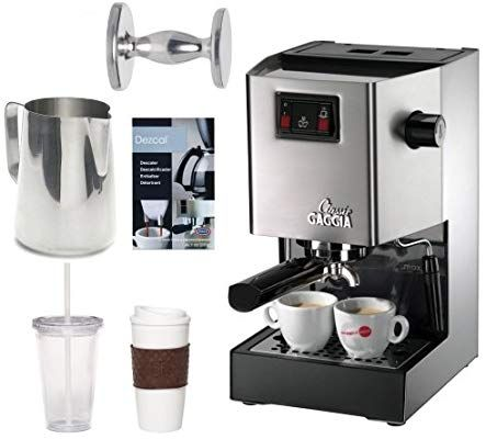 4554716d528 Amazon.com  Gaggia Classic Semi-Automatic Espresso Maker. Pannarello Wand  for Latte and Cappuccino Frothing. Brews for Both Single and Double Shots.  w  ...