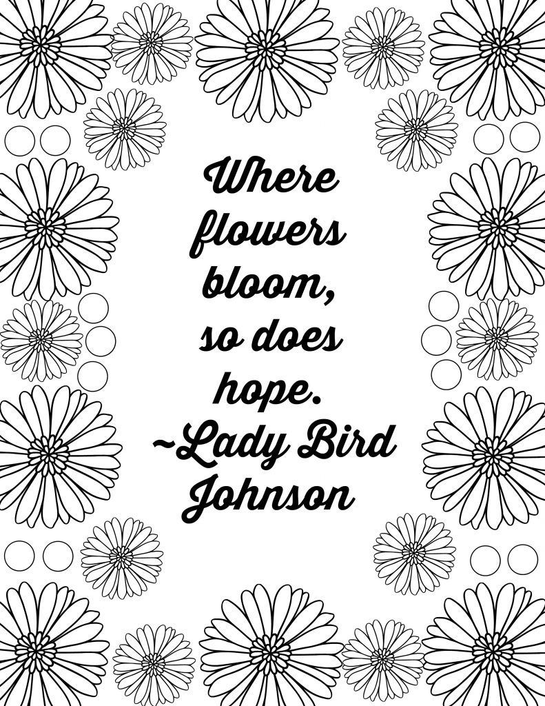 Free Printable Flower Quote Coloring Pages Quote Coloring Pages Pumpkin Coloring Pages Printable Flower Coloring Pages