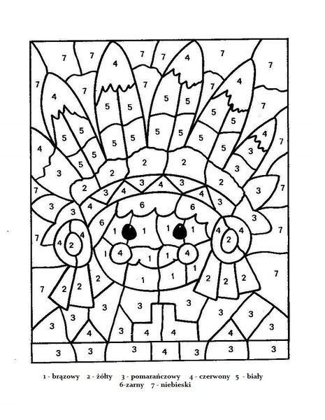 Znalezione Obrazy Dla Zapytania Kolorowanka Indianskie Do Druku Thanksgiving Coloring Pages Cool Coloring Pages Color By Numbers