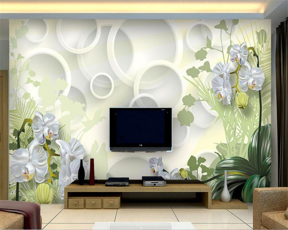 Beibehang 3d Wallpaper Home Decorative Background Clivia Flower 3d Living Room Sofa Background Murals Wallpaper 3d Wallpaper Home 3d Living Room Wall Wallpaper Room wall wallpaper info