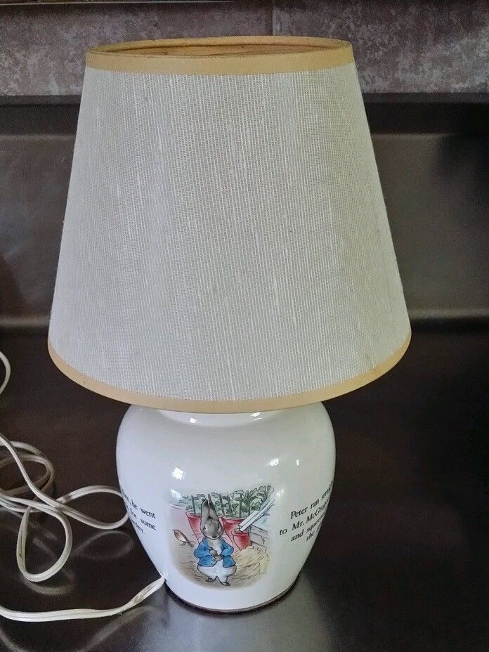 Wedgewood Peter Rabbit Nursery Lamp, Wedgwood Peter Rabbit Lamp