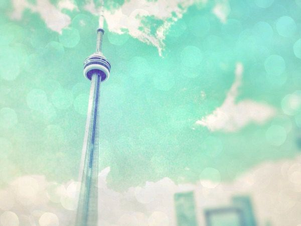 Toronto Print CN tower wall art light blue wall home decor sky