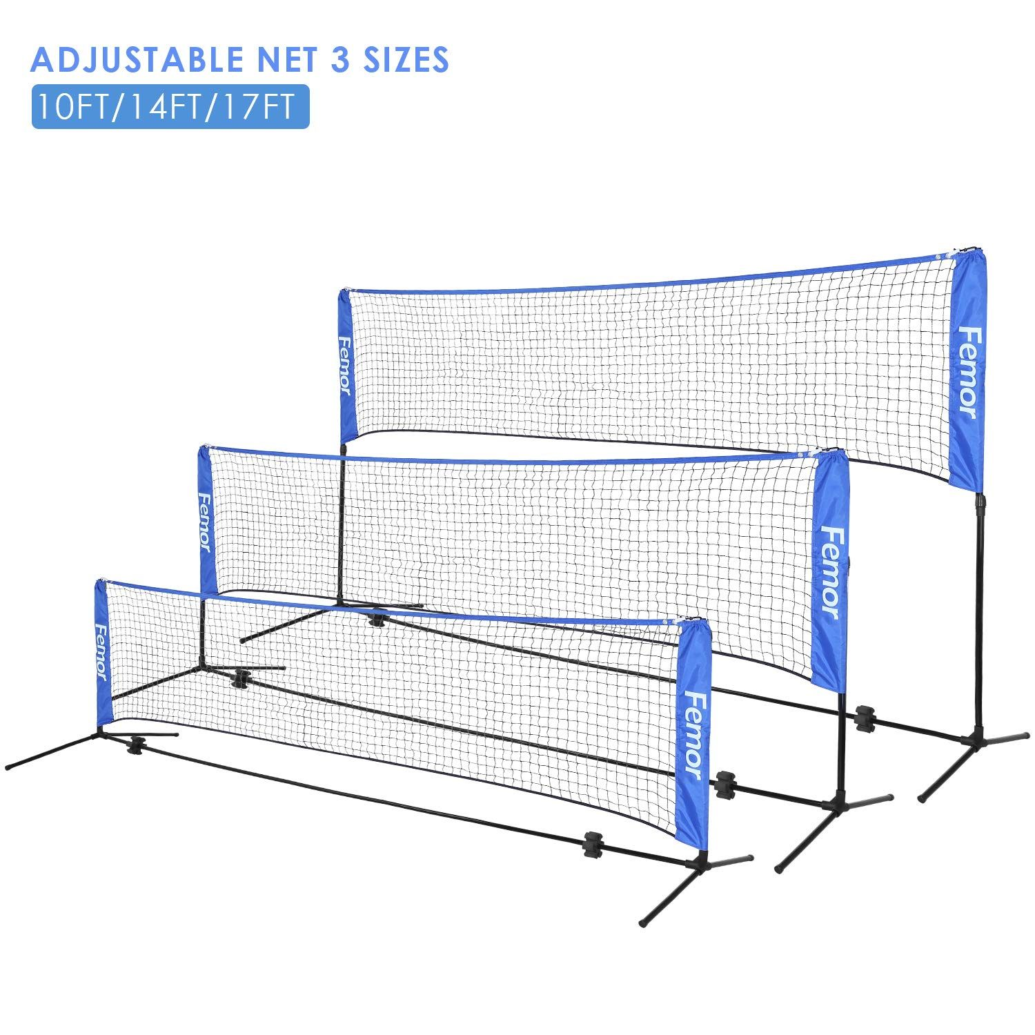 Femor Portable Badminton Tennis Net Adjustable Net For Soccer Tennis Kids Volleyball Beach Ball Sports Net Set For Indoor Outdo In 2020 Tennis Nets Soccer Tennis
