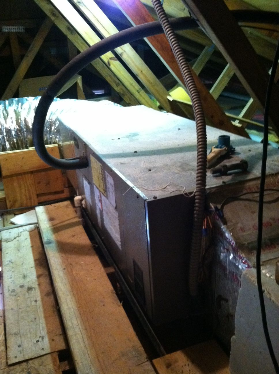 Air Handler in Attic Air handler, Attic, Air