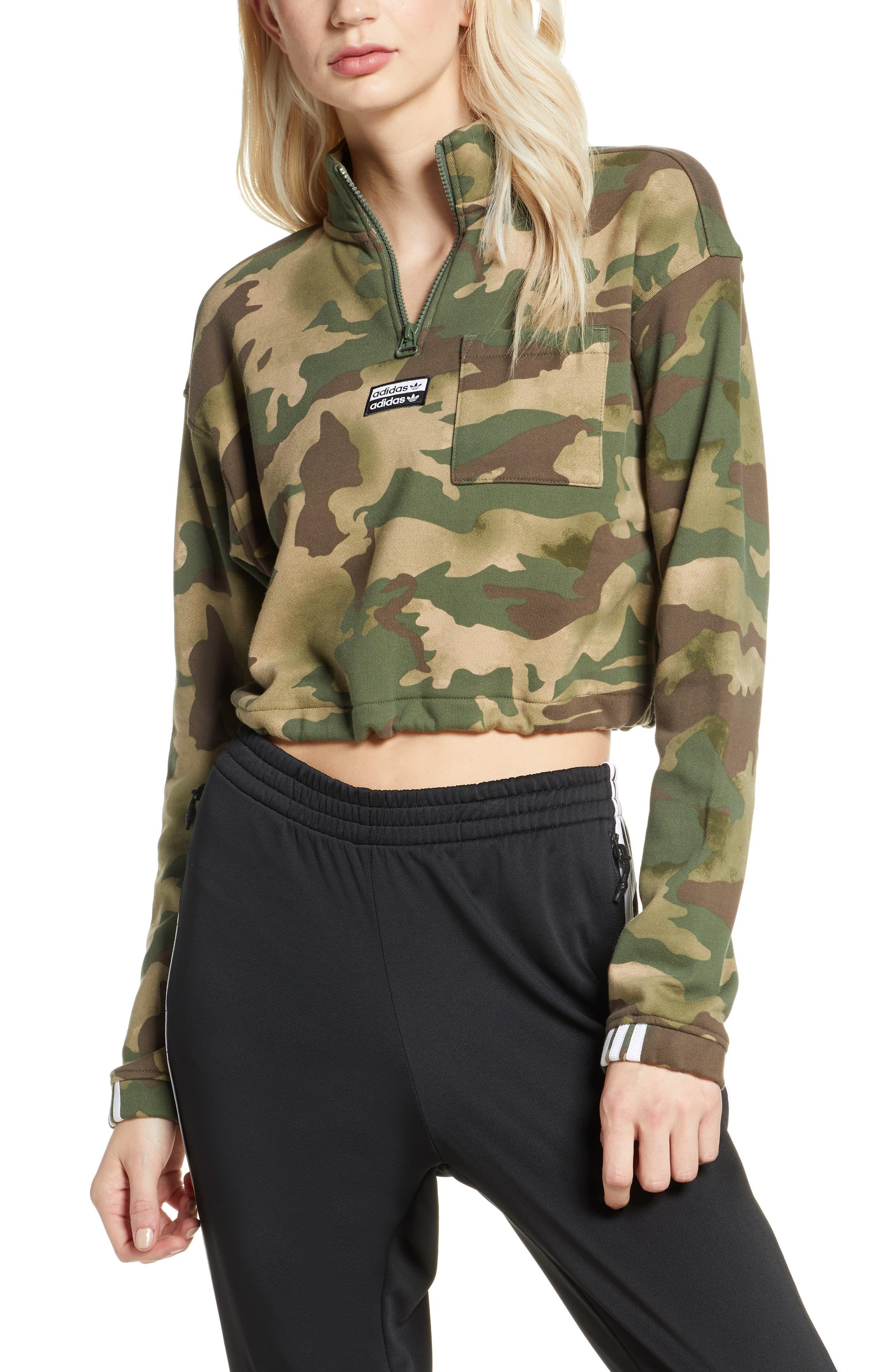 Adidas Originals Half Zip Print Crop Pullover Nordstrom Camo Jacket Outfit Adidas Originals Adidas Crop [ 4048 x 2640 Pixel ]