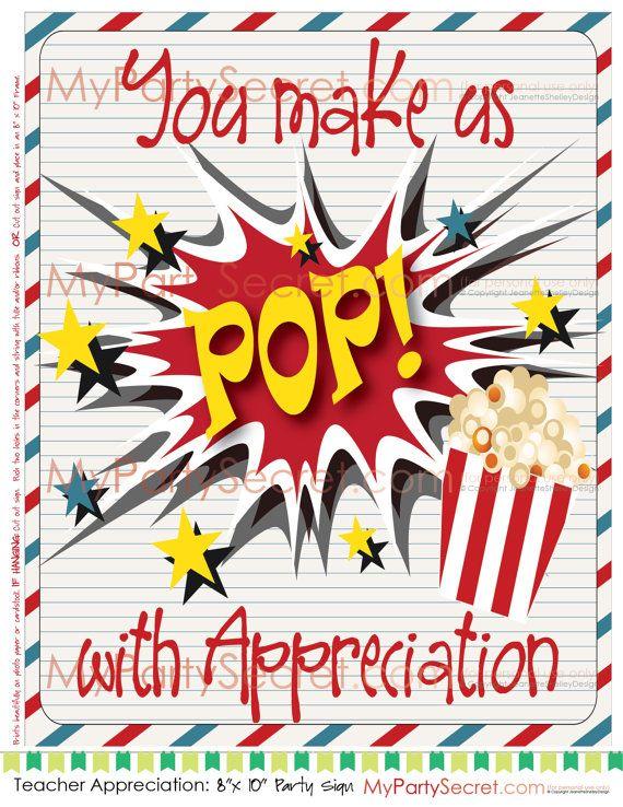 photo regarding Popcorn Teacher Appreciation Printable referred to as Do-it-yourself Printable Trainer Appreciation Popcorn, \