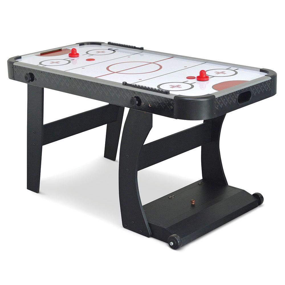 The Foldaway Air Hockey Table - Hammacher Schlemmer, $349