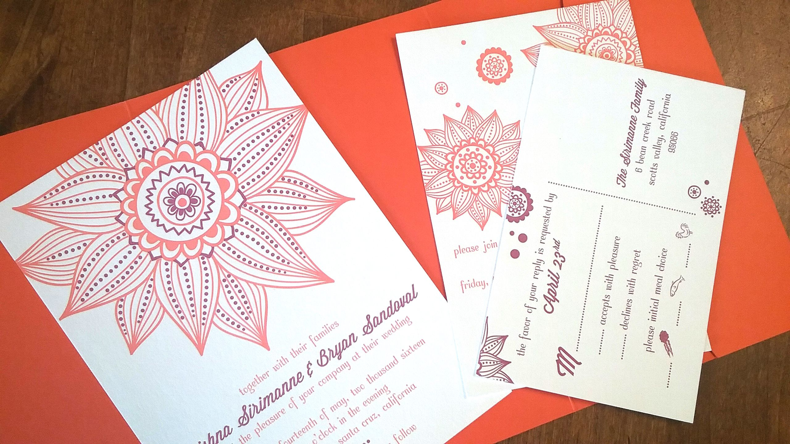 Pin by Invitations by Ajalon on {invitation design} trishna ...