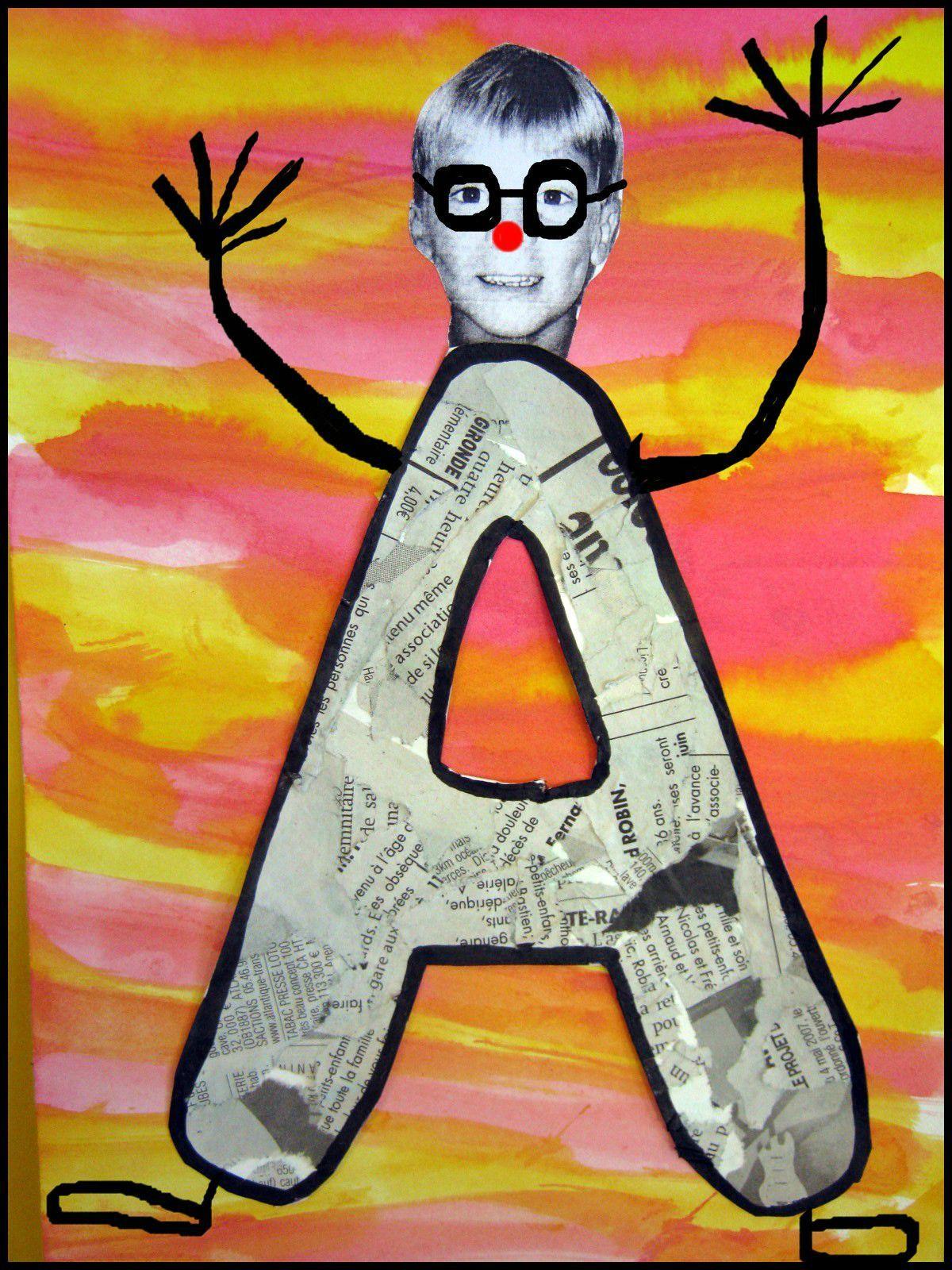 Super Lettres à lunettes ! - Le tour de mes idées   Classe d'art, Artisanat sur l'alphabet ...