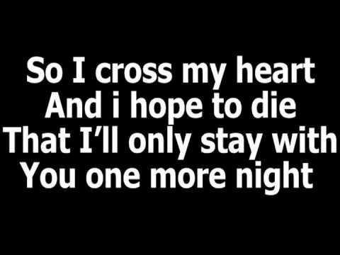 Maroon 5 One More Night I Wish It Was Only One More One More Night Nights Lyrics Great Song Lyrics
