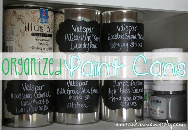 How To Organize Paint Cans Paint Cans Organization Storing Paint