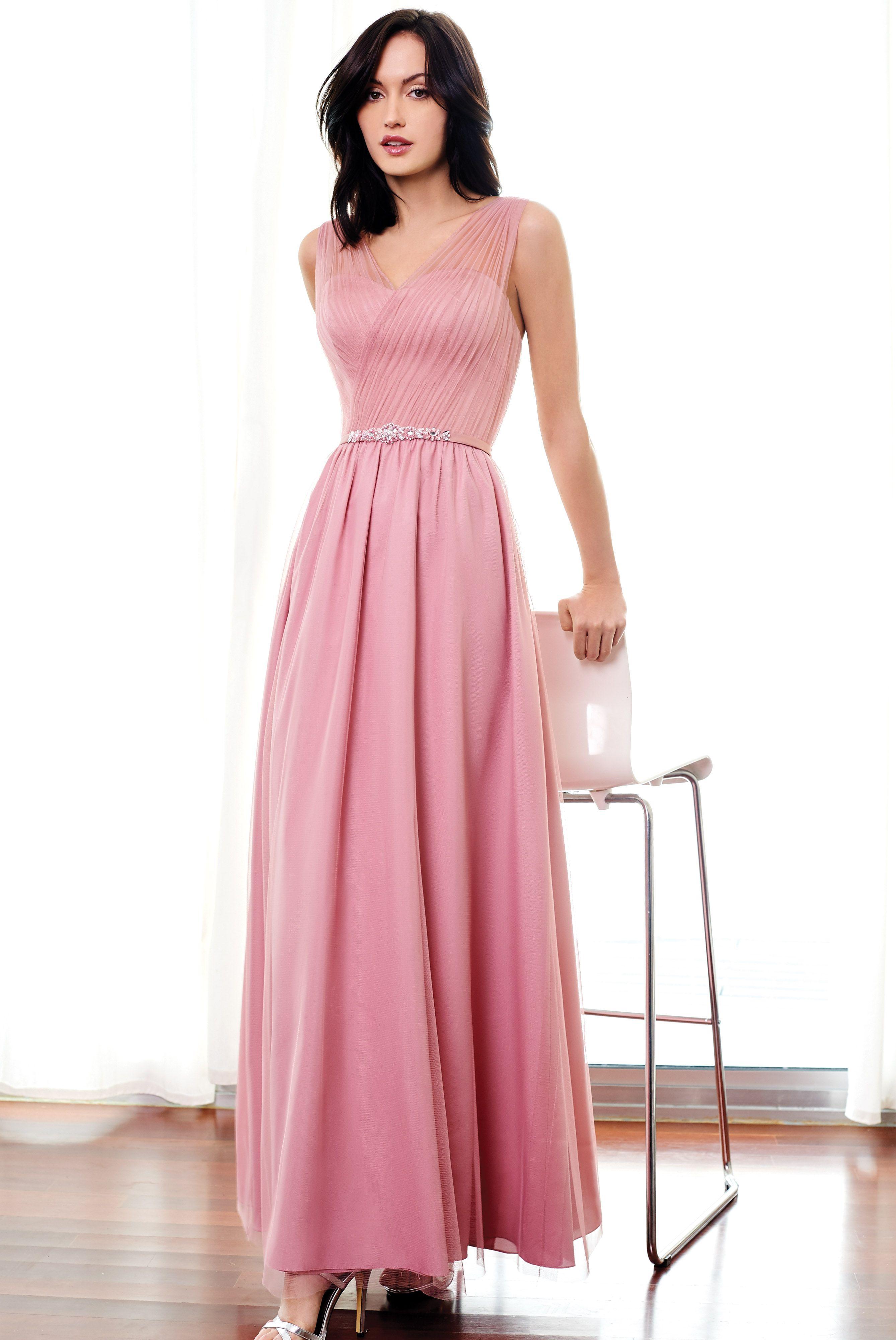 Encantador Tul Y Chantilly Vestidos De Dama Ilustración - Colección ...