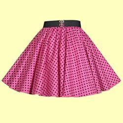 Childs Pink with Black Polkadot Full Circle Skirt