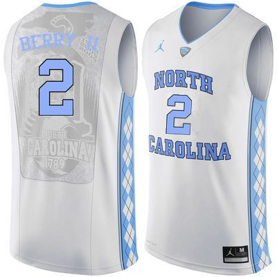 14dcc828245 Men North Carolina Tar Heels #2 Joel Berry II College Basketball Jerseys  Sale-White