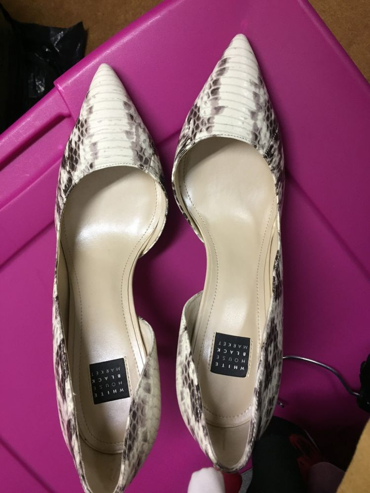 7cfb77d126 ELLA LIZARD-EMBOSSED DORSAY PUMPS size 8 new print #fashion #clothing #shoes