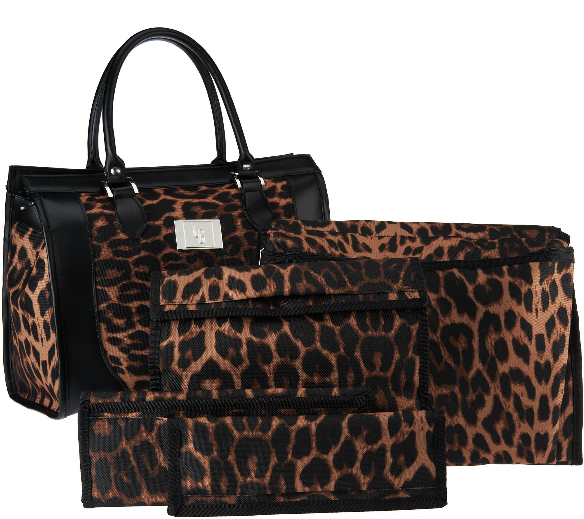 Set Of 4 Travel Organizers With Tote Bag By Lori Greiner Bags