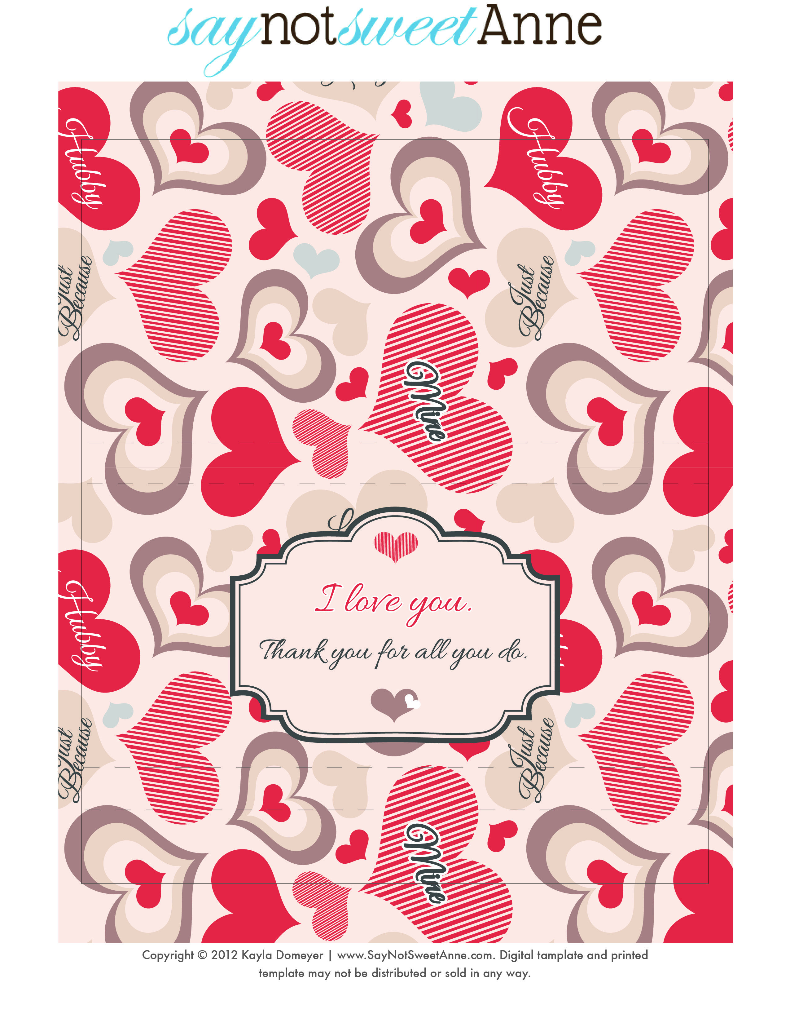 Just because candy free printable free printable free for Valentine candy bar wrapper templates