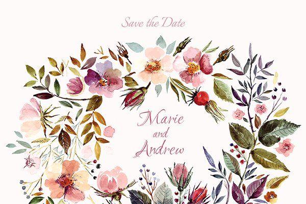 Big Watercolor Floral Collection In 2020 Bible Verse Desktop Wallpaper Bible Verse Prints Bible Inspiration