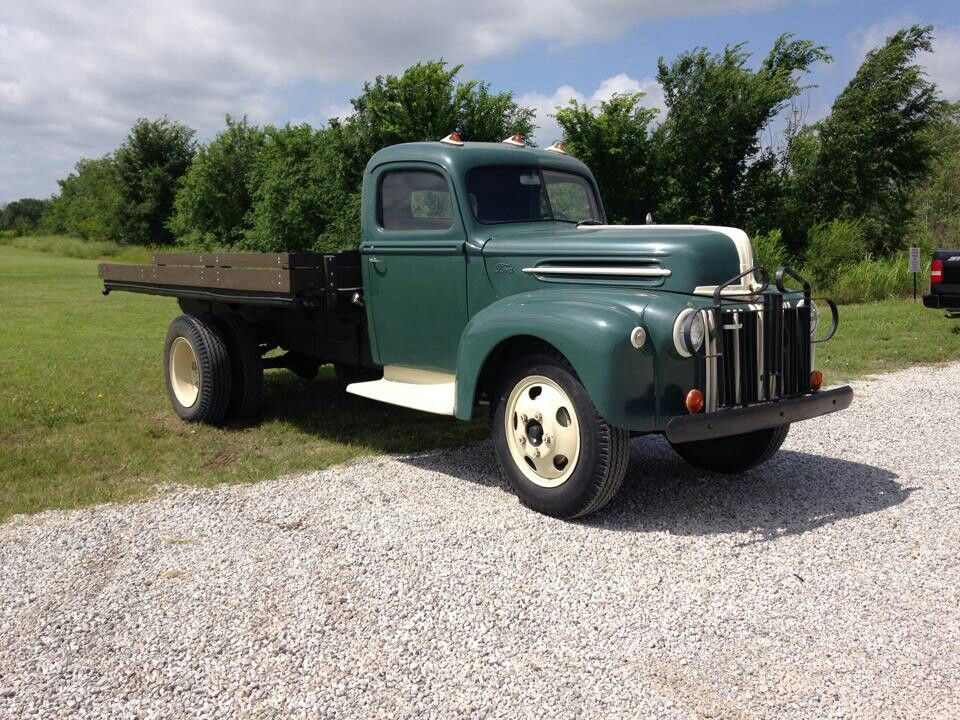 1947 Ford One And A Half Ton Dump Bed Vintage Trucks Old Ford Trucks Ford Trucks