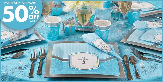Blue Communion Blessings Religious Party Supplies