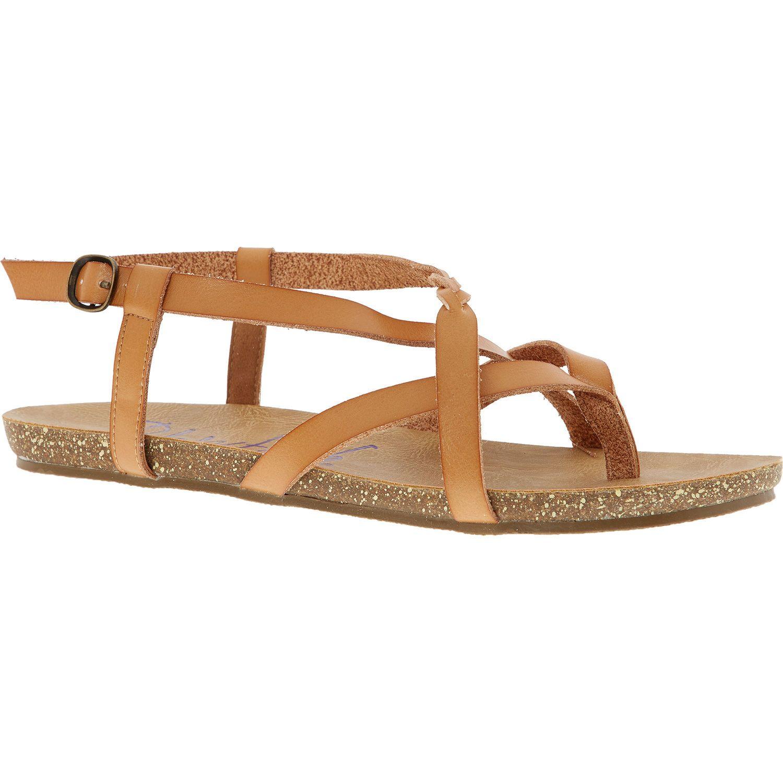 403dc6cfb18a Tan Brown Granola Strappy Flat Sandals - Winter Sun - TK Maxx ...