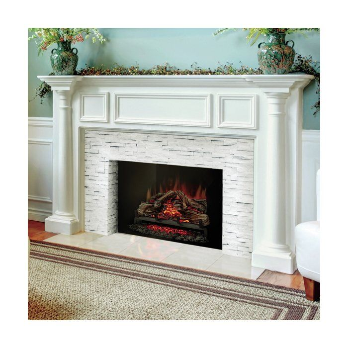 in home electric the depot set for lh with fireplace heater existing logs p log