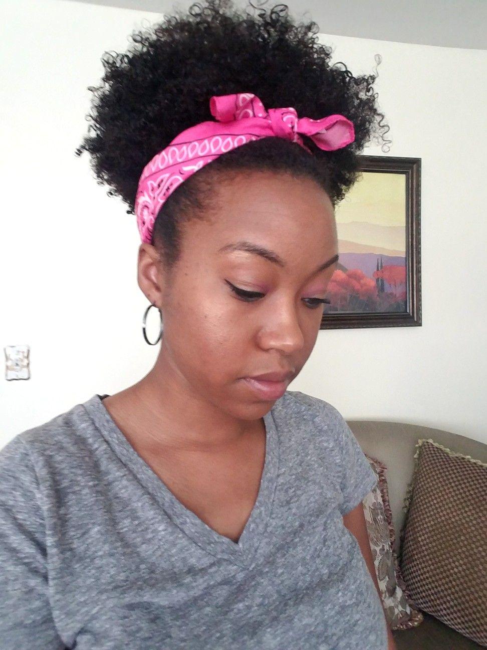 Bandana natural hair   Shaved natural hair, Natural hair ...