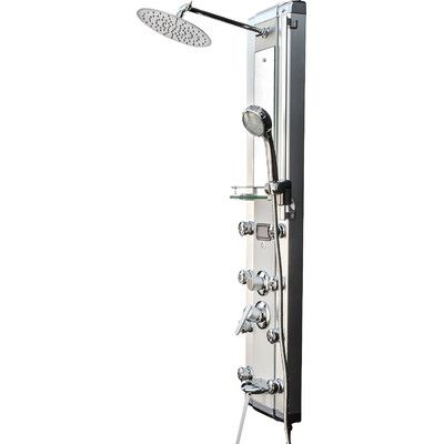 Massage Shower Panel And Spa Rain Shower Head System Diverter/Dual Function
