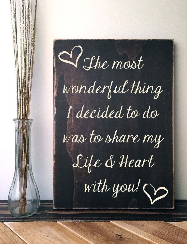 Love Quote Signs Magnificent Custom Quote Sign Dark Brown Wood Sign With Love Quote Hand