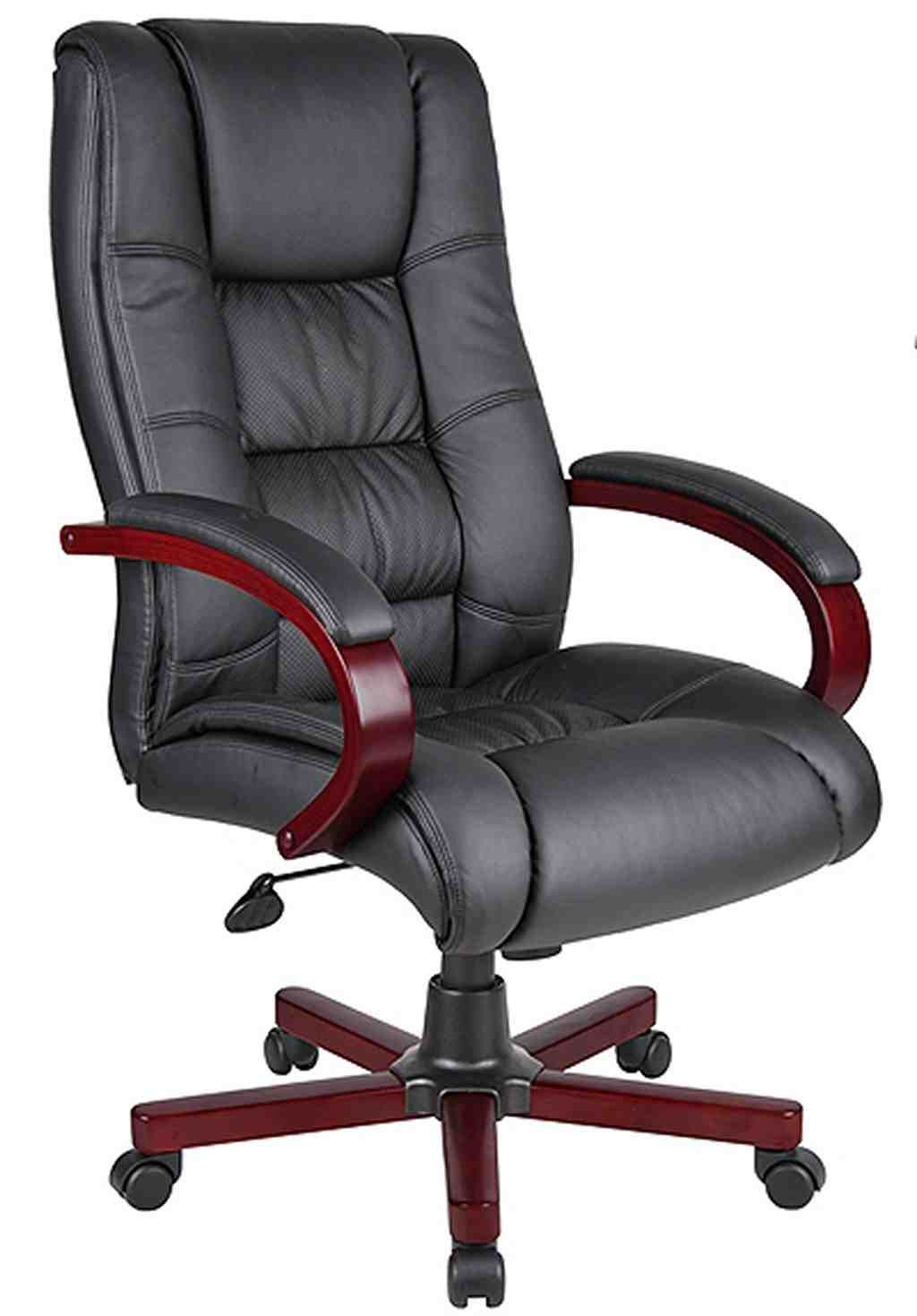 high back black leather executive office chair leather office