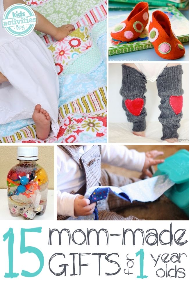 15 Precious Homemade Gifts For A 1 Year Old Gifts For Kids One Year Old Baby Infant Activities