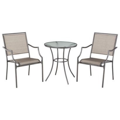 looking for small table and chairs very cute.  sc 1 st  Pinterest & Threshhold Patten 3-piece patio set from Target: weather and rust ...