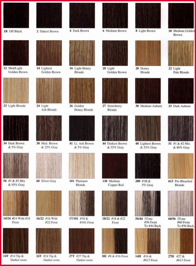 Haarfarben und namen