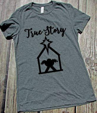 7e97a9393e0 Nativity Shirt Christian Christmas Shirt True Story Say Something Tees    More