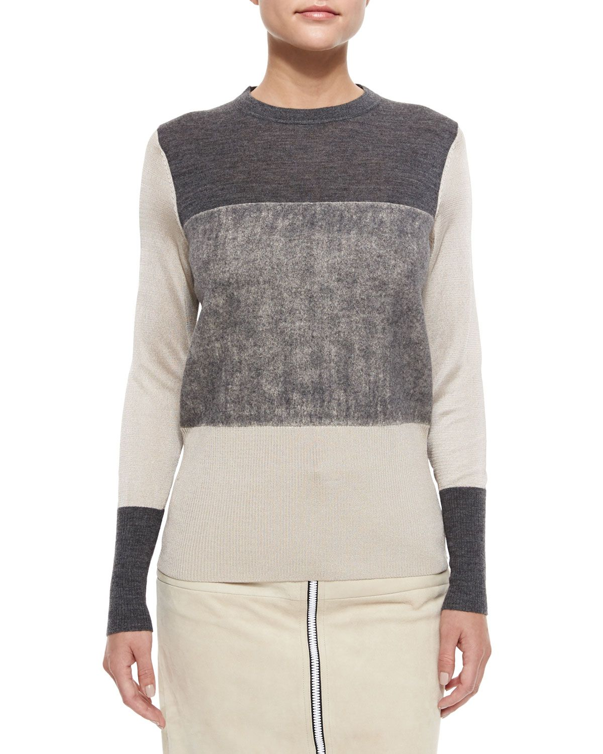 Rag & Bone Marissa Colorblock Knit Sweater, Size: MEDIUM