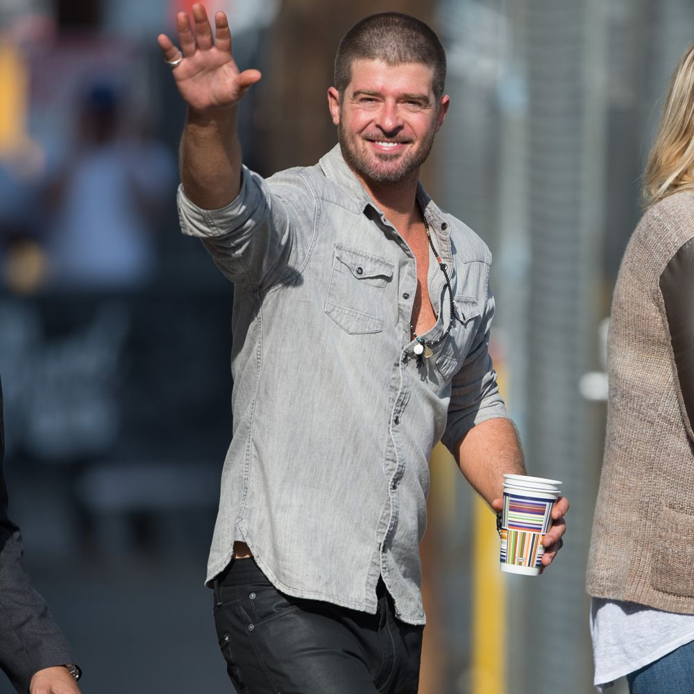 REPORT: Robin Thicke Admits He Was High While in the Studio For 'Blurred Lines'