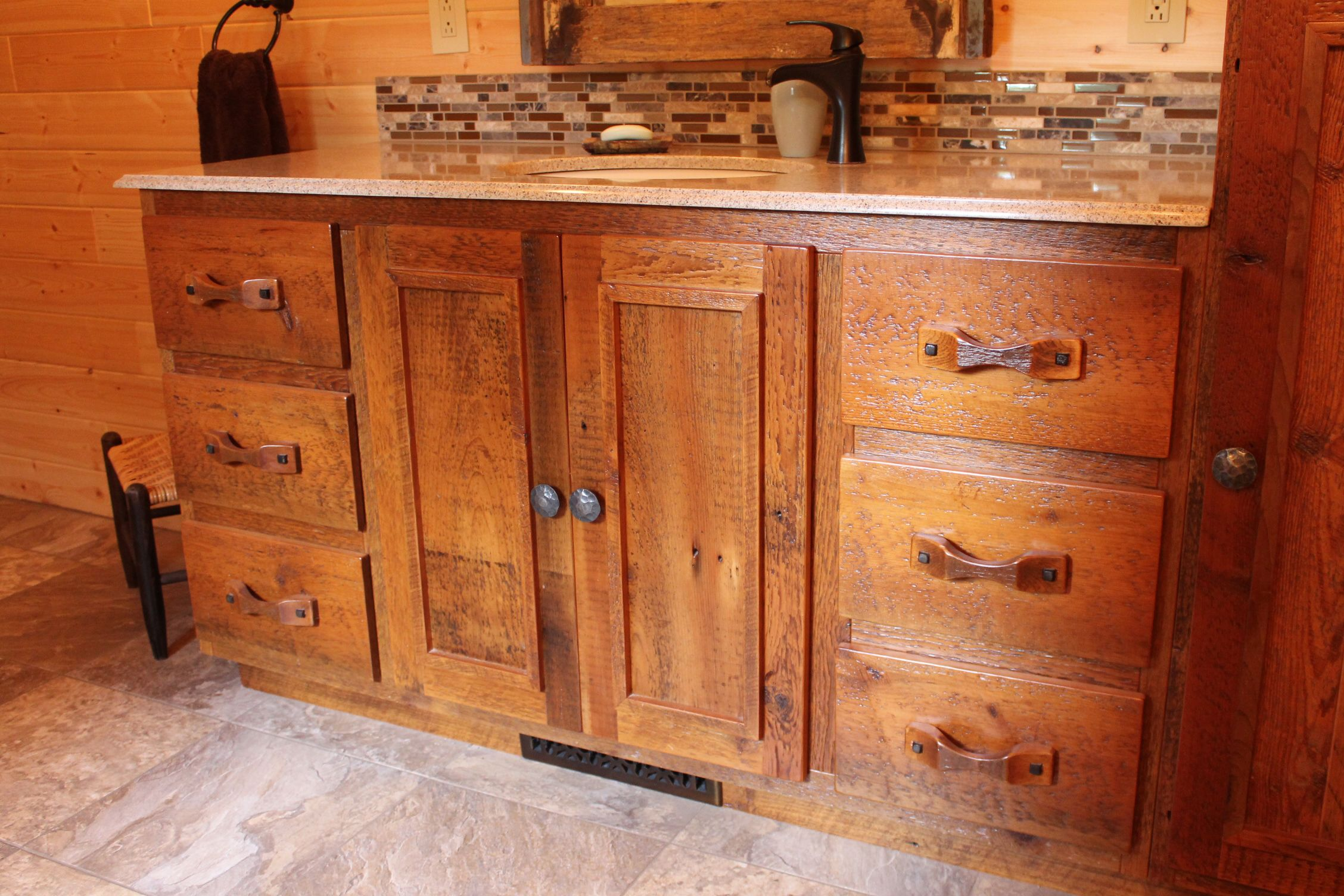 This Bathroom Vanity Is Made From 100 Year Old Reclaimed Barnwood From The  Midwest. Everything