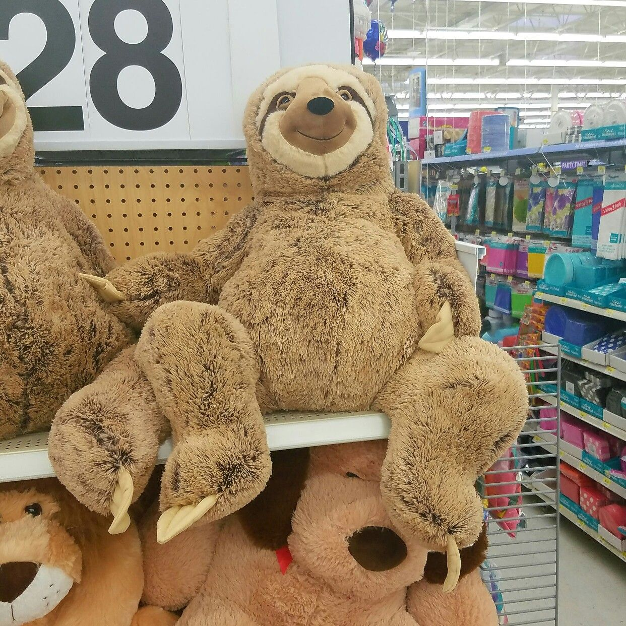 28 Giant Smiling Sloth Sold At Walmart Sloth Stuffed Animal Giant Stuffed Animals Smiling Sloth [ 1242 x 1242 Pixel ]