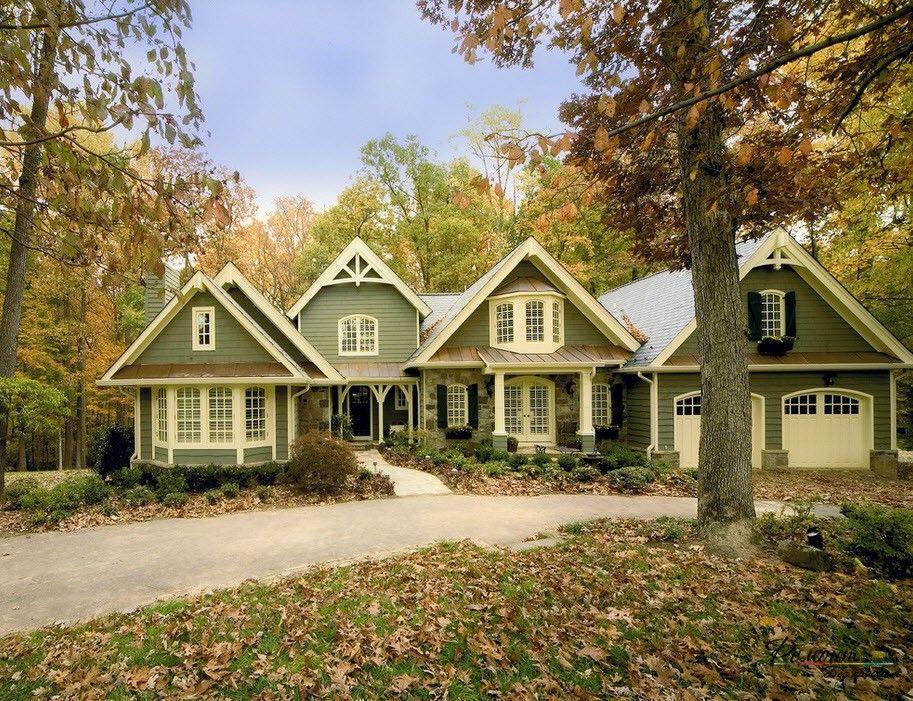 Дизайн домов в зеленом цвете: стильный идеи оформления ...