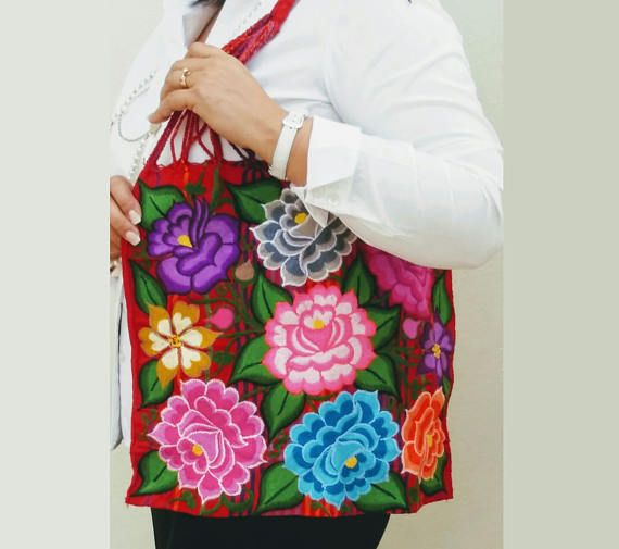 Mexican Handbag Flower Bag Embroidered