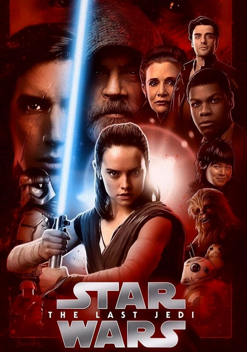 Star Wars The Last Jedi Character Poster Star Wars Bilder Star Wars Episode 8