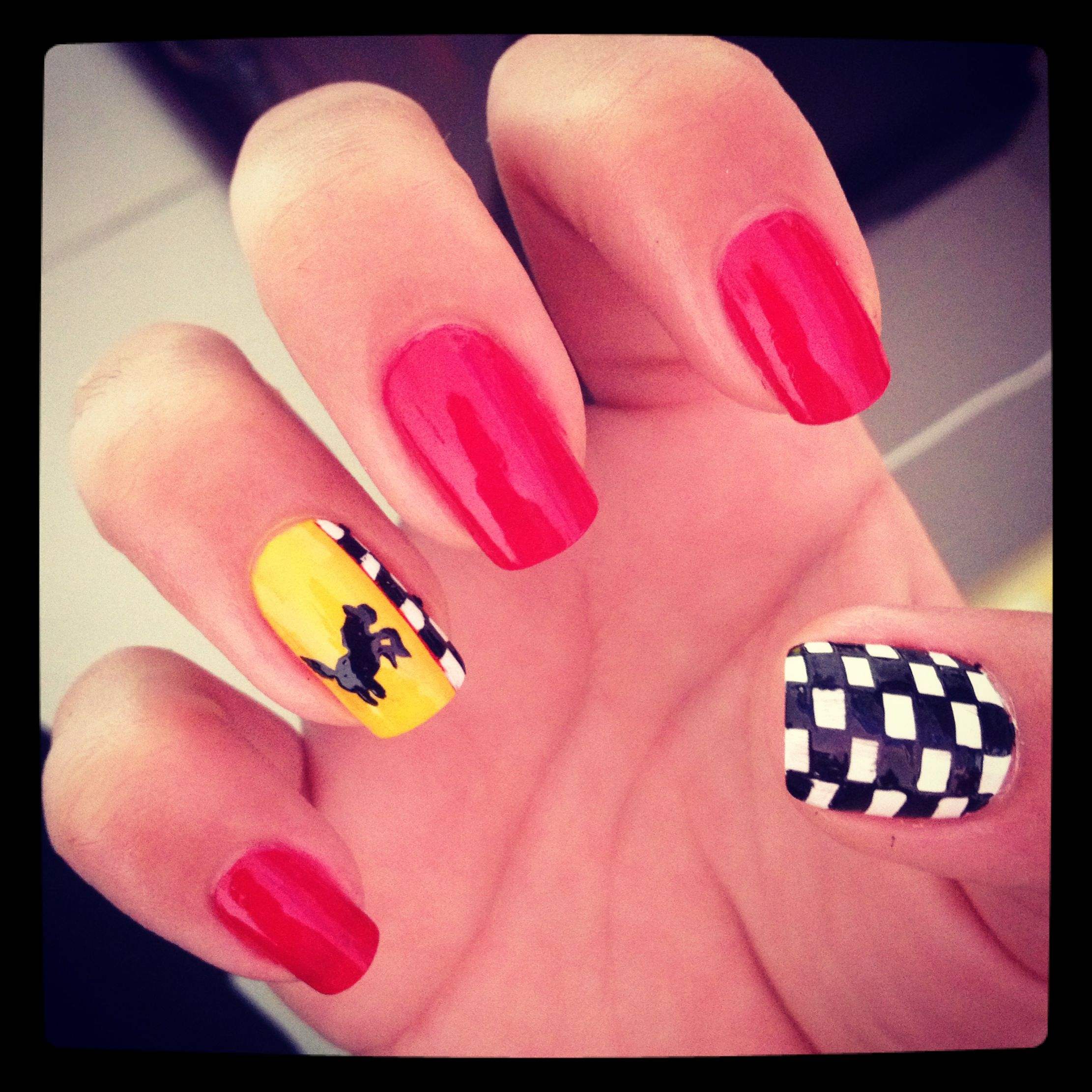 Nails Ferrari | Nails | Pinterest