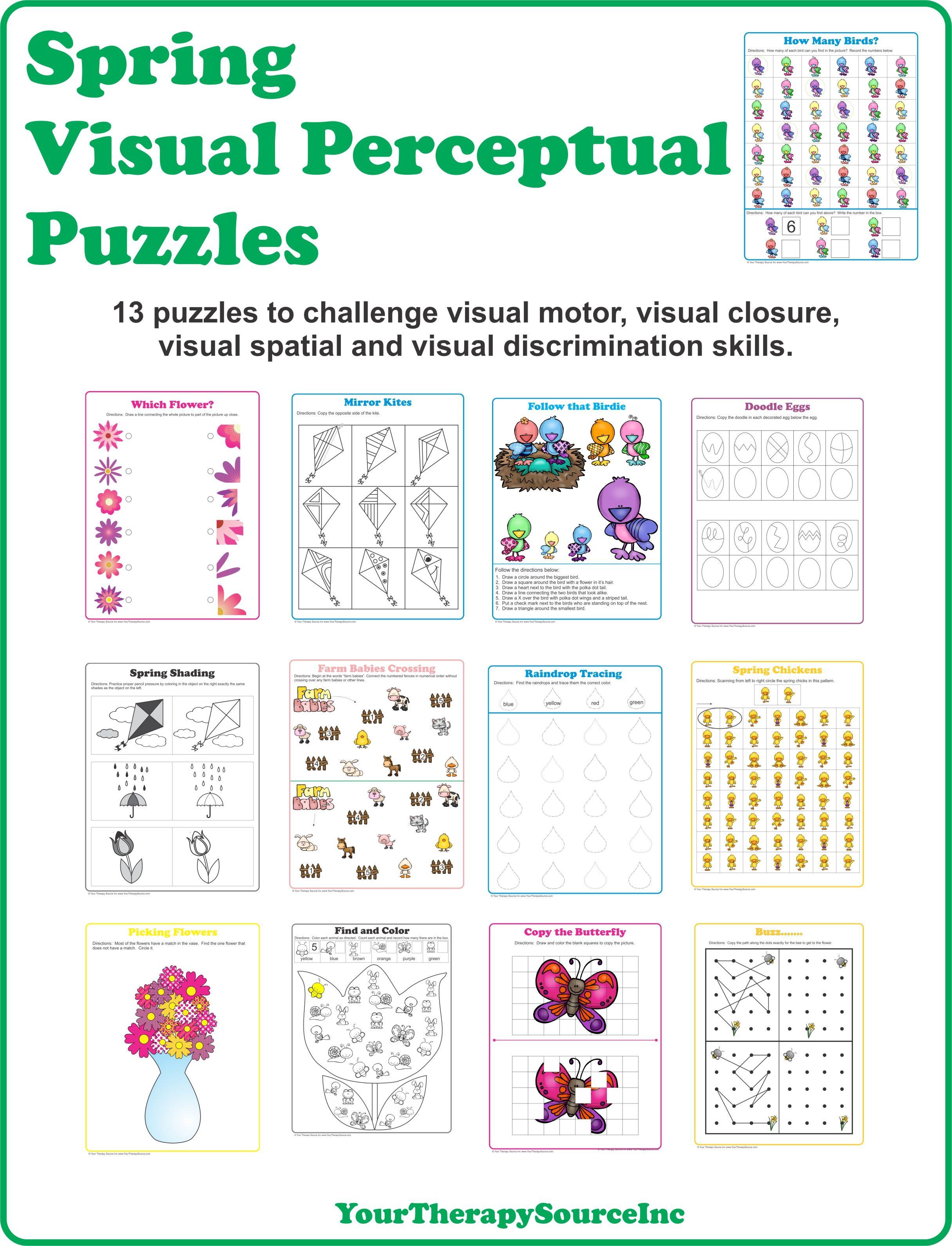Printable Spring Puzzles Printable Crossword Puzzles Kids Worksheets Printables Visual Discrimination English Worksheets For Kids