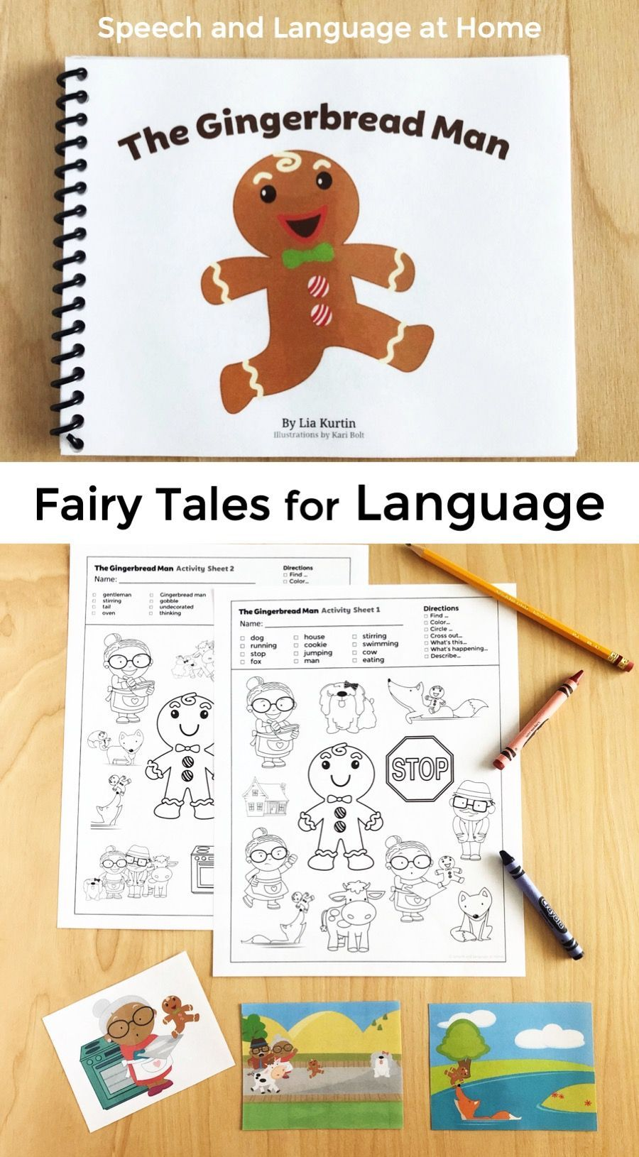 The Gingerbread Man Is A Classic Fairy Tale Toddlers Preschool And Kindergarten Stude Speech Therapy Toddler Gingerbread Man Kindergarten Preschool Activities [ 1630 x 900 Pixel ]