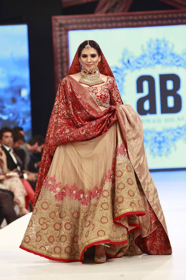 8ee3d9e83263 Ahmed Bilal Bridal Dresses at Shaan-e-Pakistan 2016