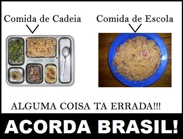Brasil-Alimentação-2013-Quadro-Comida de cadeia x Comida de escola