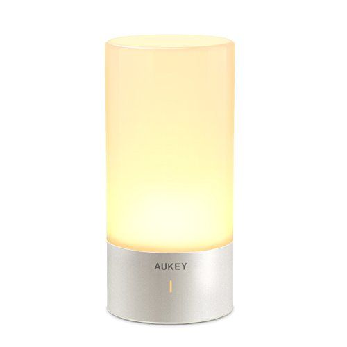 Aukey Table Lamp Touch Sensor Bedside Lamps Dimmable Warm White Light Color Changing Rgb For Bedrooms Bedside Lamp Touch Lamp Lamp