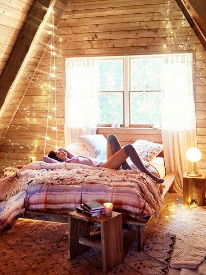 Schlafen Wie Unter Dem Sternenhimmel: Kreative Deko Ideen Mit Lichterketten  Füru0027s Schlafzimmer